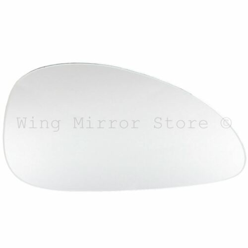 Right Driver Side WING DOOR MIRROR GLASS For Citroen C4 2004-2009 Stick On