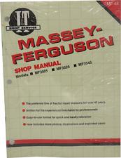 Massey Ferguson Models Mf3505 Mf3525 Mf3545 Shop Manual Mf 44