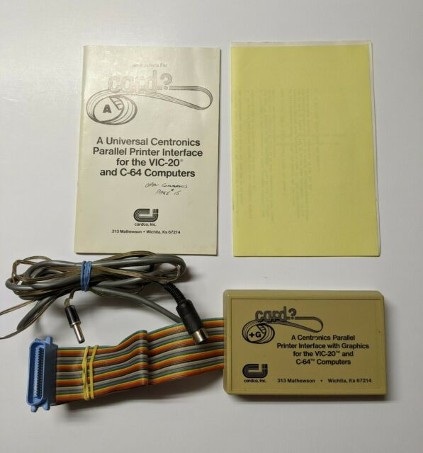 Centronics Parallel Printer Interface with Graphics by Cardco For Commodore 64