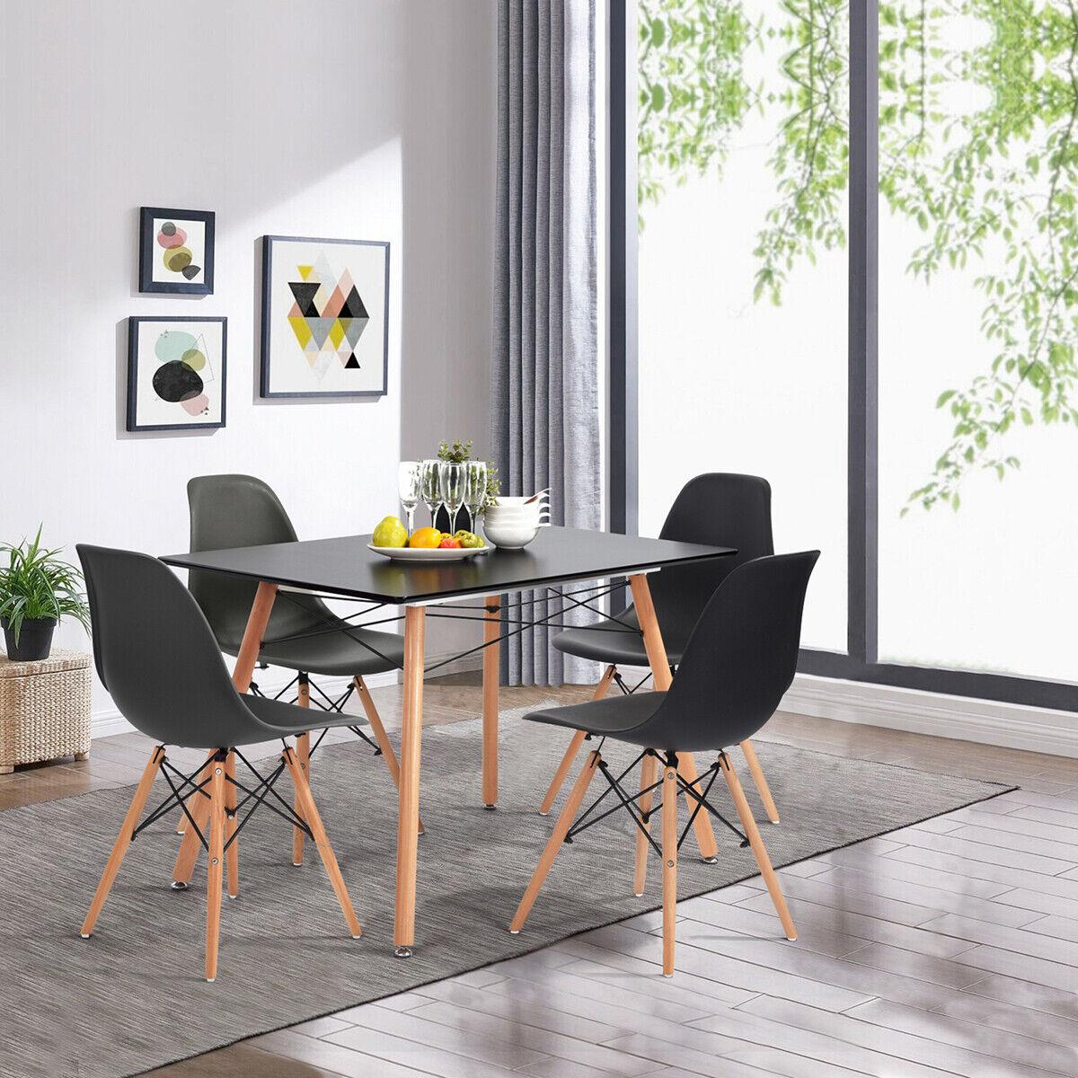 Orren Ellis Camron Modern Wood Top Dining Table For Sale Online Ebay
