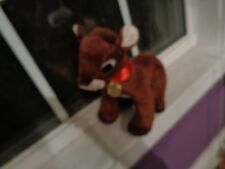 DAN DEE PLUSH DOLL FIGURE SINGING RUDOLPH CHRISTMAS REINDEER 50TH ANNIVERSARY