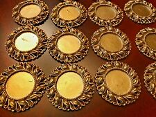 25pieces 45mm Gold Round Resin For 25mm Cabochon Flatback DIY  Beads Supplies