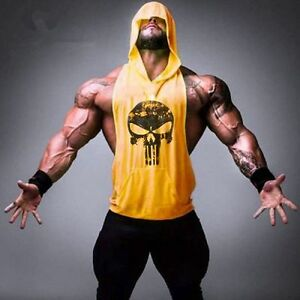 Gym-Hot-Men-Clothing-Stringer-Hoodie-Bodybuilding-Tank-Top-Muscle-hooded-Shirt