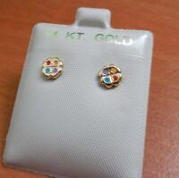 14k Gold Filled Flower Earrings Kids Little Girl Child / Quality Product
