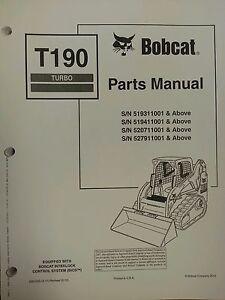 bobcat t190 turbo skid steer parts manual book 6901352 ebayimage is loading bobcat t190 turbo skid steer parts manual book