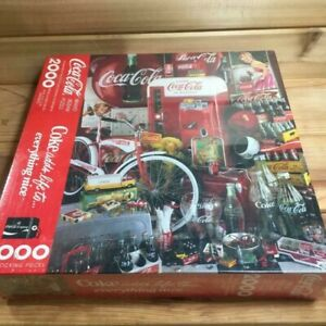 Coke Adds Life to Everything Nice Puzzle 1991 SEALED 2000 Piece Springbok Jigsaw