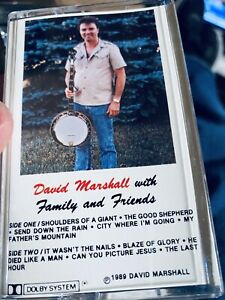 David Marshall With Family and Friends Bluegrass Gospel Cassette new sealed