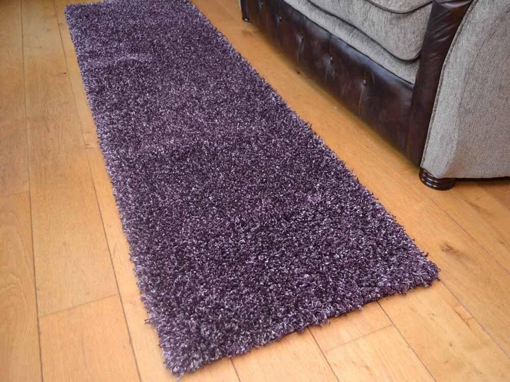 Dark heather petit extra large 5cm doux doux doux épais velours plain shaggy long tapis de couloir   Apparence Attrayante  483fed