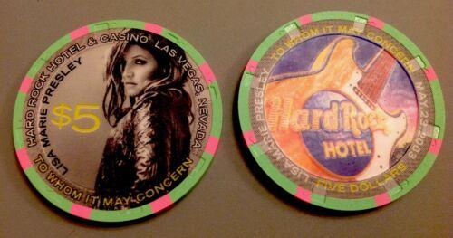 Hard Rock Las Vegas 2003 LISA MARIE PRESLEY $5 Casino Chip Mint//Uncirculated