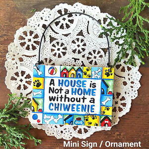 ... Mini-Sign-Wood-Ornament-CHIWEENIE-DOG-SIGN-Chihuahua-Dachshund-Mix-USA