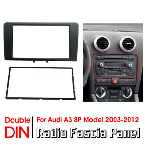 2-DIN-Car-Radio-Fascia-Dash-Panel-Plate-Adapter-For-Audi-A3-8P-Model-2003-2012