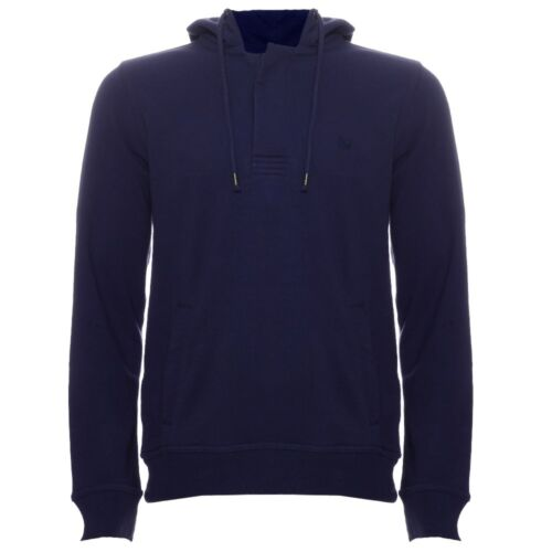 Crew Clothing Mens Ink Navy Blue Pop Over Hoodie Sweatshirt Top S M L XL BNWT
