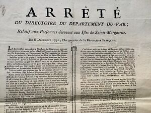 Ile-Sainte-Marguerite-en-1792-Var-Grasse-Frejus-Lerins-Toulon-Berluc-Brunel