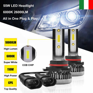 2-pezzi-55W-9006-HB4-20000LM-Auto-LED-Fari-Lampade-Lampadine-Kit-Xenon-HID-6000K