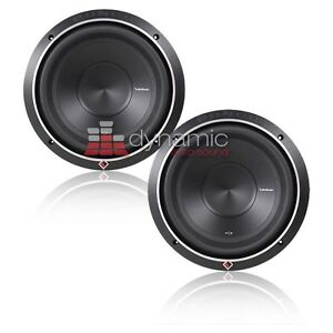 Details about (2) RockFord Fosgate P2D2-10 Stage 2 Subs 10