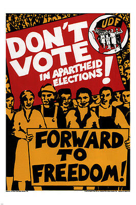DON'T vote in APARTHEID ELECTIONS political poster SOUTH AFRICA 1984 24X36