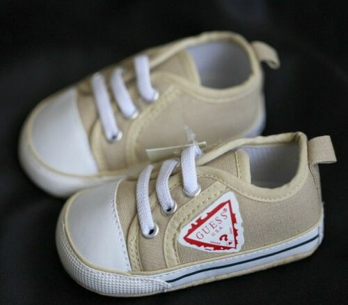 NEW Baby Boys Little Gentleman Beige Trainer Sneaker Shoes 6-18 mths Size 4//5