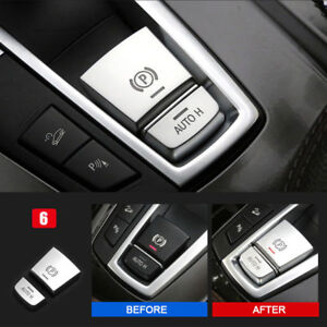 Car AUTO H Button Cover Fit For BMW 5 6 X3 X4 F10 F11 F06 F12 F25 Series ABS