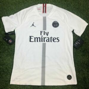 designer fashion 8a797 687b0 Nike Jordan Paris Saint Germain 3rd Vapor Match Jersey White Sz Large  918923-102