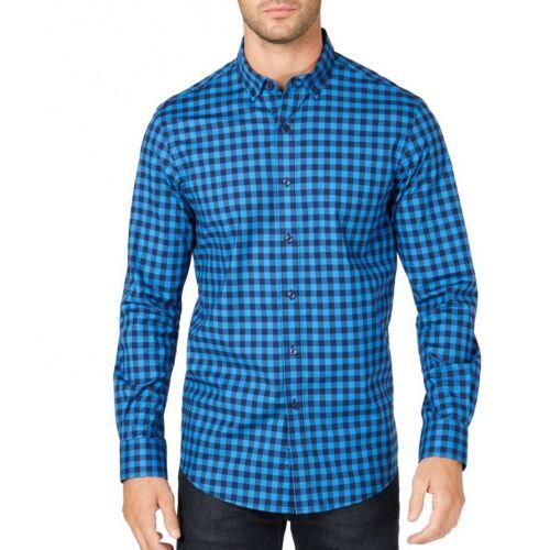 Club Room nuevo para hombre camisa delantera botón Elástico rendimiento-Theodore