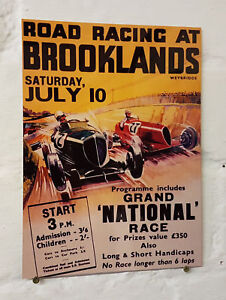 bar 2 Sizes Available ideal for pub Man Cave Brooklands Road Race METAL SIGN