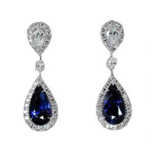 diamanten-verlobung-zappeln-schmuck-tropfen-ohr-hengst-blaue-saphir-ohrringe