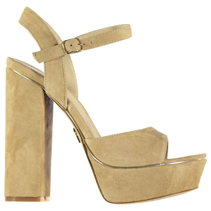WINDSOR SMITH KARINA HEELED chaussures - SUEDE - SAND - Taille 5 – BNIB