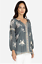 JOHNNY-WAS-Embroidered-SOPHIA-PEASANT-BLOUSE-Tie-Neck-Gray-Tunic-XS-245 thumbnail 4