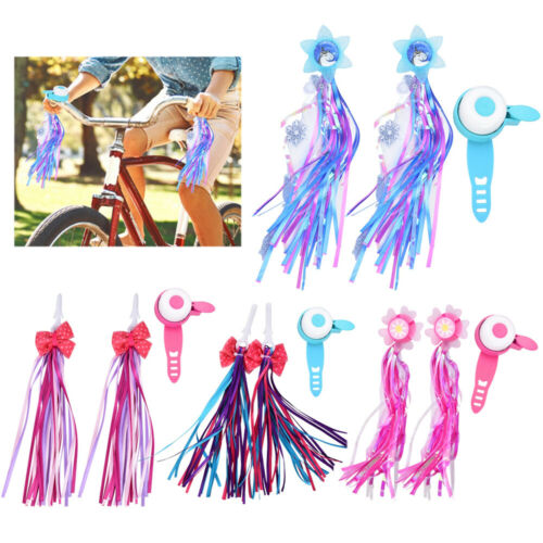 Children Kids Cycling Handlebar Ring Bell /& Tassels for Bike Bicycle Scooter