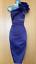 Karen-Millen-UK-10-Purple-Satin-Rose-Corsage-One-Shoulder-Wiggle-Cocktail-Dress thumbnail 3