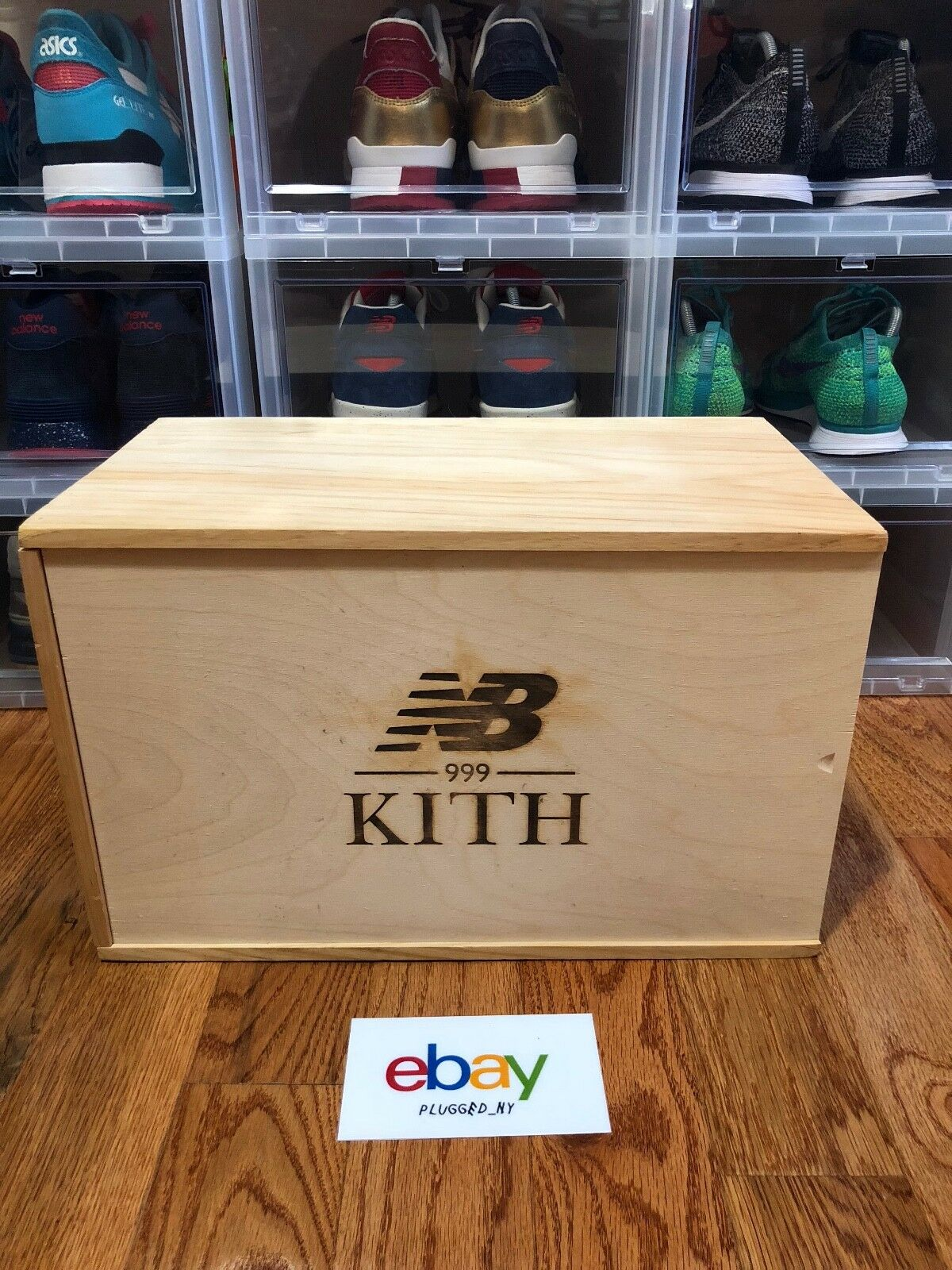 New Balance 999 Steel Blue Kith Ronnie Fieg Special Wooden Crate Sz 9 VNDS
