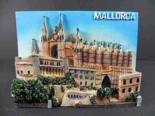 Majorque Espagne Spain 3 D moulés RELIEF IMAGE PICTURE NEUF 11 cm souvenir