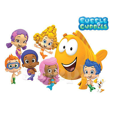 "Bubble Guppies Iron On Transfer 4.25/""x7.5/"" for LIGHT Colored Fabric"
