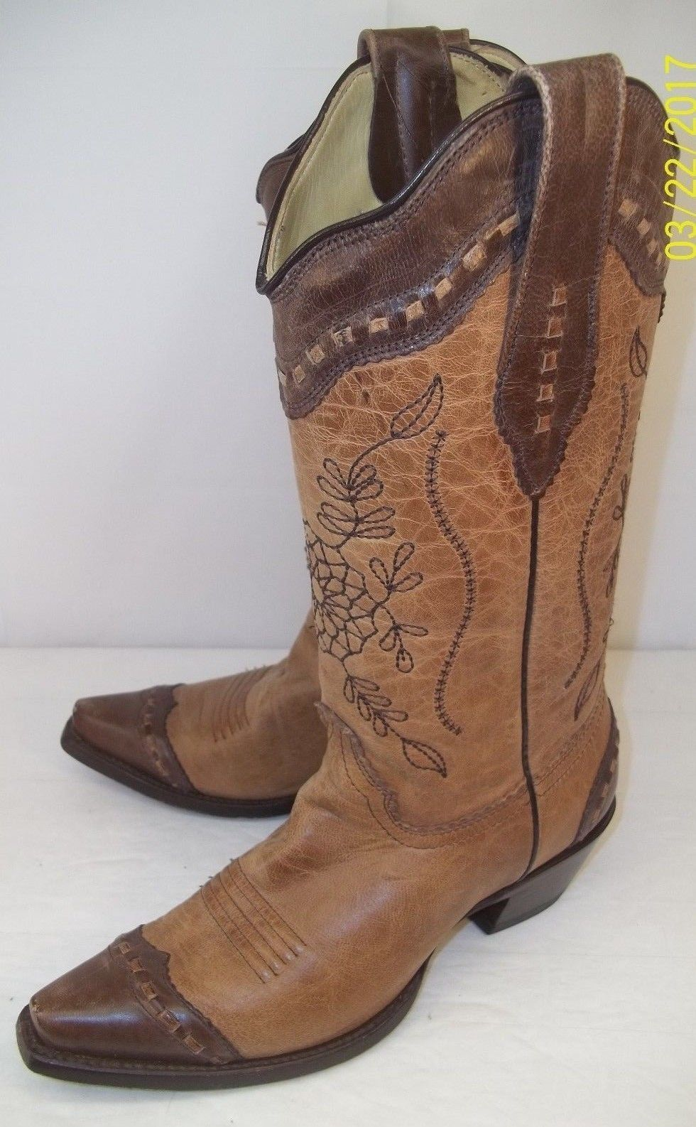 Corral Boots Wo's US 6M Chocolate Chocolate Chocolate Sand Distressed Goat A2500 western floral snip ee4141
