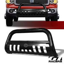 For 2002 2009 Dodge Ram Black Hd Steel Bull Bar Brush Push Bumper Grill Grille Fits 2005 Dodge Ram 1500
