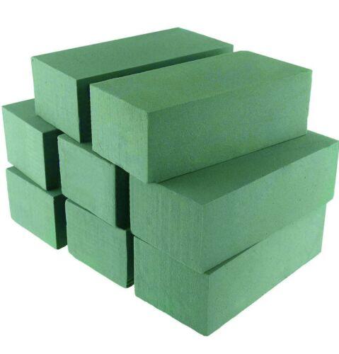 Wet Floral Foam Bricks Green Styrofoam Blocks For Floral Arrangement 8 Pcs New