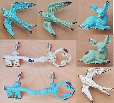 Vintage Swallow Drawer Knob Fawn Door Cabinet Handle Pull Antique Cupboard ty