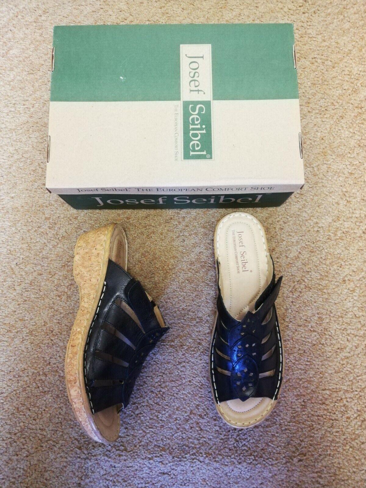 Josef Seibel Black Mule Sandal