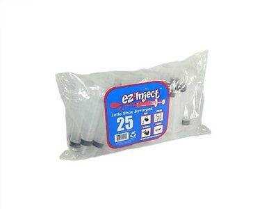25 Pack EZ-InjectTM Jello Shot Syringes (Medium 1.5oz), New, Free Shipping