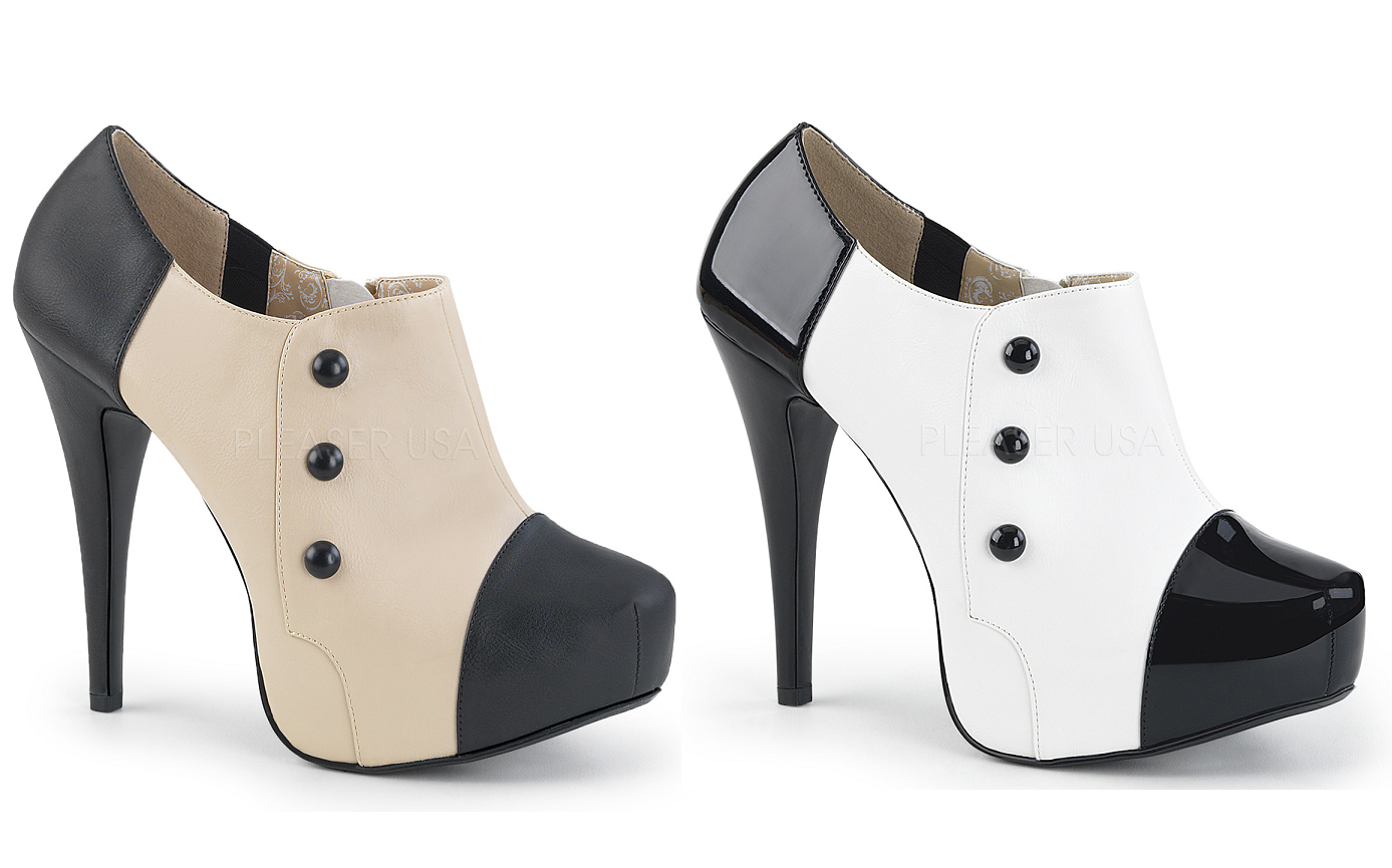 Pleaser Pink Label CHLOE-11 Concealed Platform 3 3 3 Button Ankle Boot Größe 9-16 f2e3af