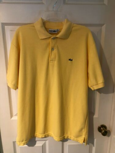 Lacoste Chemise Men's Yellow Size XL Cotton Knit P