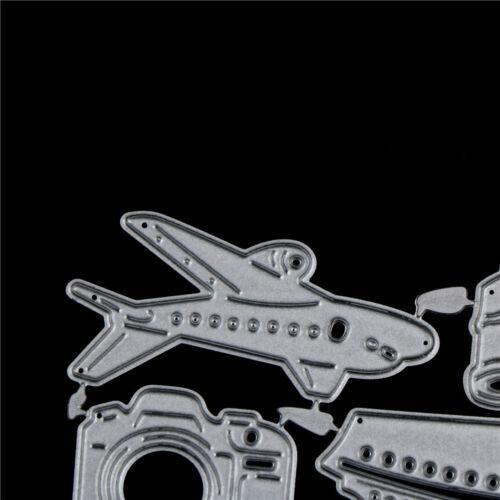 Flugzeug Auto Metall Stanzformen Schablone DIY Scrapbooking DekorationsH2 W0 TG