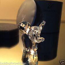 Swarovski Crystal Small Elephant MIB/COA! #7640NR040 / 151489 Retired, Swan logo