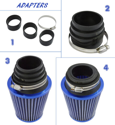 UNIVERSAL PERFORMANCE CAR AIR FILTER HIGH FLOW OPEN CONE INDUCTION INTAKE NSN2