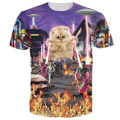 No One Love Monster Cat 3d Graphic T Tee Shirt Design Crew Top Men Women Casuals