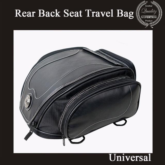 Waterproof Fiber leather Motorcycle Top Case Rear Back Seat Travel Bag Universal