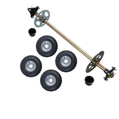 810mm ATV Quad Bike Drift Trike Go Kart Rear Axle Kit 145//70-6 Tyres Wheels