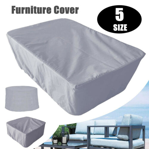 5 Size Gray Waterproof Garden Patio Furniture Cover Outdoor Shelter