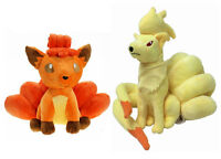 2pcs Pokemon Center Ninetales And Vulpix Plush Toy Figure Stuffed Doll Set