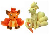 2pcs Pokemon Center Ninetales And Vulpix Plush Toy Figure Stuffed Doll Set